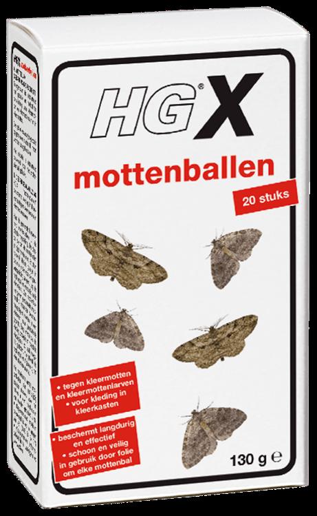 HGX mottenballen 20 stuks